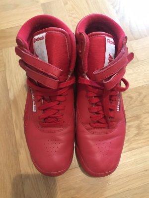 Reebok Sneaker alta rosso