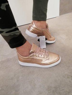 Reebok Sommer Sneaker gold kupfer Leder 37.5