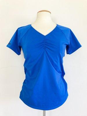 Reebok Sport T-Shirt, Lauftshirt, blau, V-Ausschnitt, Gr. 40 / L