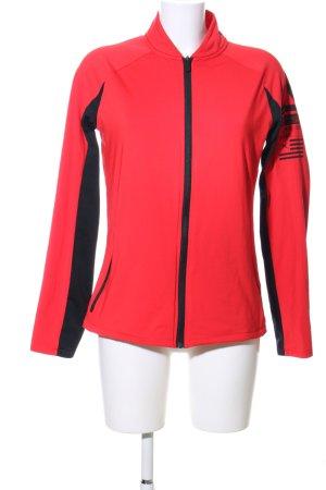 Reebok Sportjacke rot-schwarz Motivdruck Casual-Look