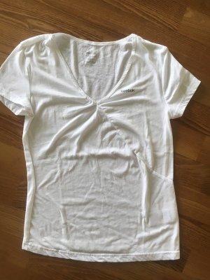 REEBOK°Sportliches T-Shirt weiß mit V-Ausschnitt°36°neuwertig, kaum getragen