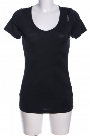 Reebok Sports Shirt black printed lettering casual look