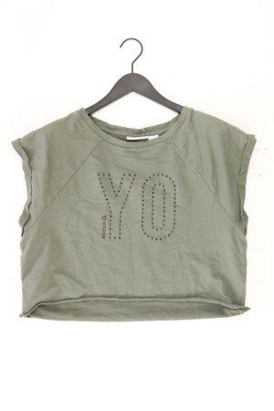 Reebok Sportshirt Größe L Kurzarm olivgrün aus Baumwolle