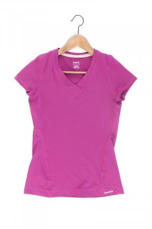 Reebok Sportshirt Größe XS Kurzarm lila aus Polyester