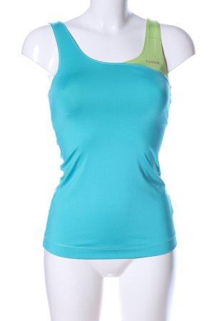 Reebok Sporttop blauw-groen casual uitstraling