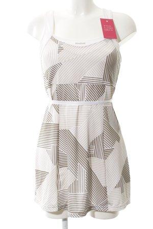 Reebok Stretch jurk gestreept patroon atletische stijl