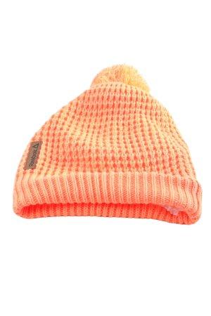 Reebok Cappello a maglia arancione chiaro punto treccia stile casual