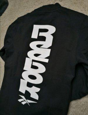 Reebok Sweter oversize biały-czarny Bawełna