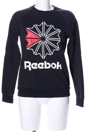Reebok Sweatshirt abstraktes Muster Casual-Look