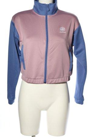 Reebok Veste sweat rose-bleu style décontracté