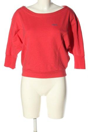 Reebok Sweatshirt pink-blau Schriftzug gestickt Casual-Look