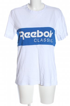 Reebok T-Shirt weiß-blau Motivdruck Casual-Look