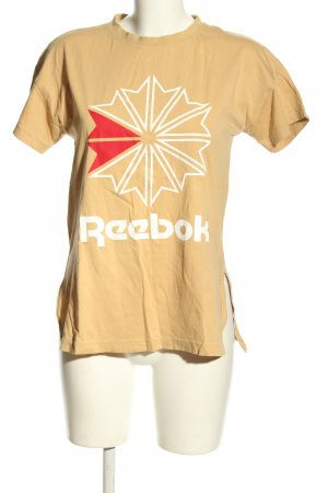 Reebok T-Shirt nude-weiß Motivdruck Casual-Look