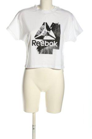Reebok T-Shirt weiß-schwarz abstraktes Muster Casual-Look