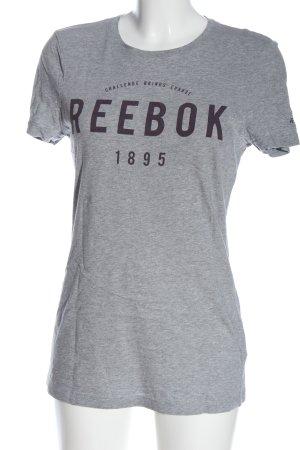 Reebok T-Shirt light grey flecked casual look