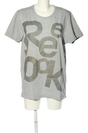 Reebok T-Shirt hellgrau meliert Casual-Look