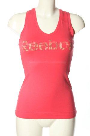 Reebok Tank Top red-cream printed lettering casual look