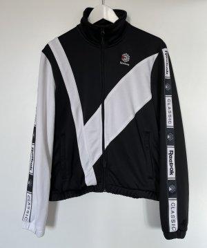 Reebok Veste de sport noir-blanc