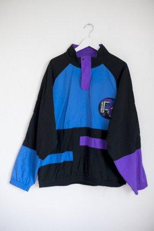 Reebok Vintage Anorak, schwarz lila und blau XL