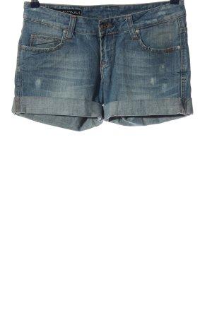 Reell Pantaloncino di jeans blu stile casual
