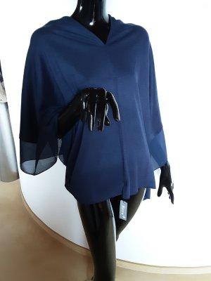 Poncho blu scuro