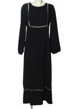 Refka Sukienka z długim rękawem czarny Graficzny wzór W stylu casual
