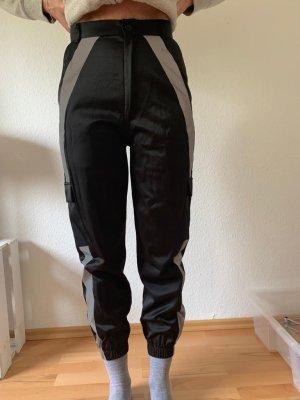 Alive Pantalon «Baggy» noir-argenté