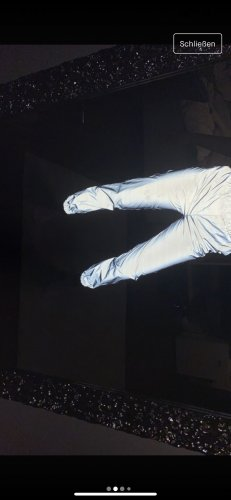 Pantalone fitness argento