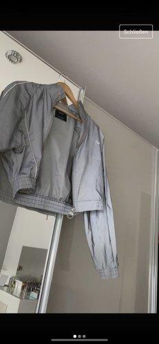Bershka Bomber Jacket silver-colored