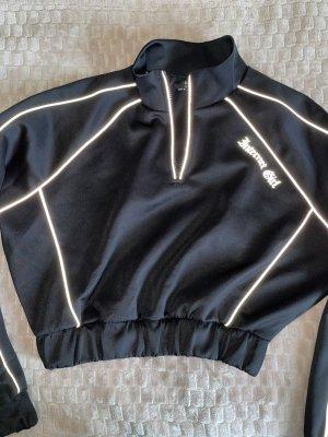 reflektierender crop Pullover mit Reißverschluss