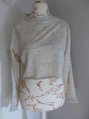Reflex Sweatshirt beige/ grau kurz - neu und ungetragen - Gr. L