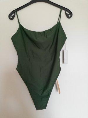Reformation Badeanzug XL grün neu mit Etikett, ausverkauft