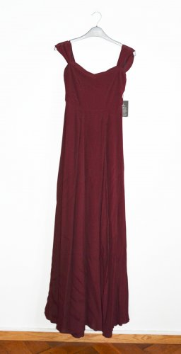 Reformation Constance Maxikleid Dress Kleid Merlot Neu m. Etikett XS
