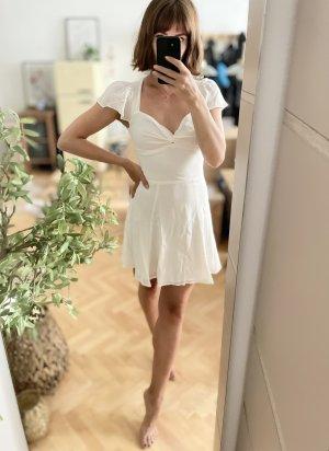 Reformation Kenni Dress Kleid Ivory Weiß Elfenbein Offwhite 2 XS 34