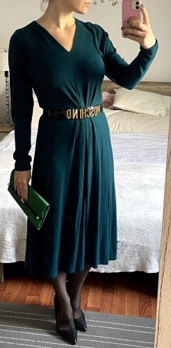 Reformation Kleid Midikleid Gr. S 36 Ausgestellt türkis petrol Lange Ärmel