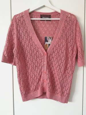 Short Sleeve Knitted Jacket multicolored linen