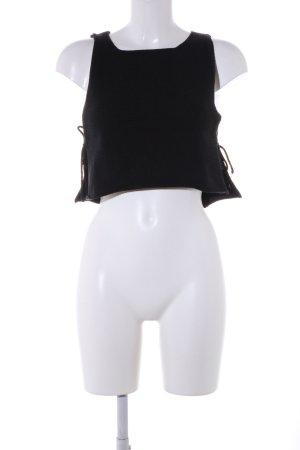 Reformation Strickshirt schwarz Casual-Look