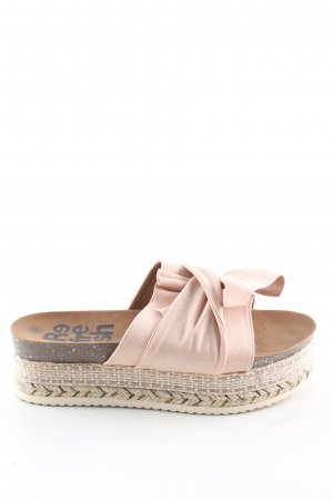 Refresh Heel Pantolettes natural white-pink casual look