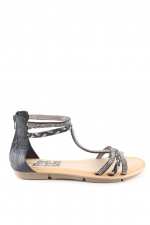 Refresh Riemchen-Sandalen schwarz Casual-Look