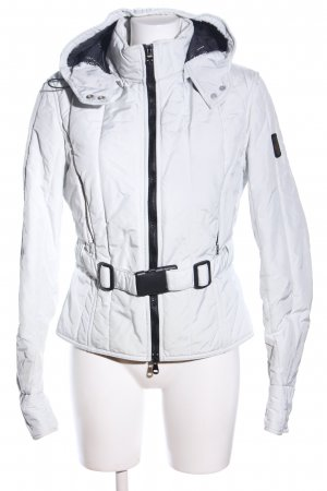 Refrigiwear Raincoat white-black quilting pattern casual look