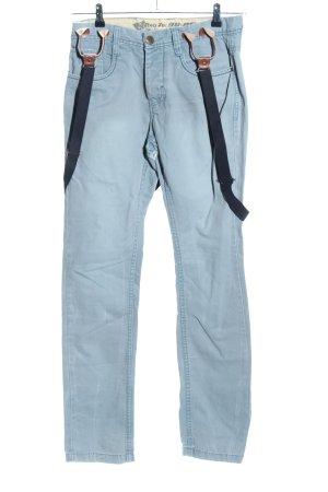 Pantalon cigarette bleu style décontracté