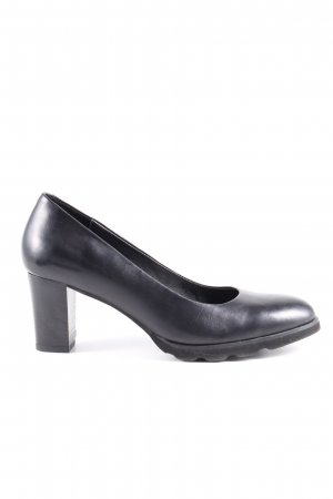 Regarde le Ciel Plateau-Pumps schwarz Business-Look