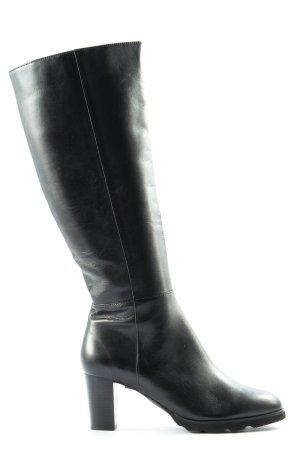 Regarde le Ciel Wide Calf Boots black casual look