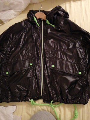C&A Oversized Jacket black-neon green nylon