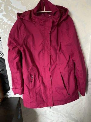 Regen Wind Outdoor Jacke Mantel Rain essentials Pink Gr 38