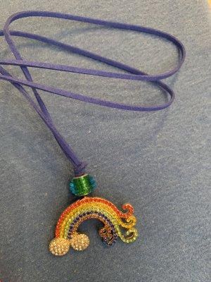 Handmade Collier incrusté de pierres multicolore