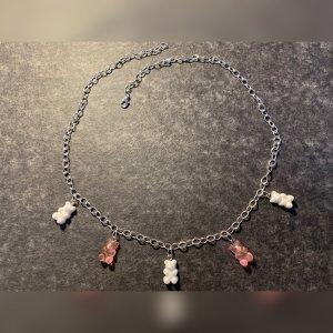 Chaîne à maillons blanc-rose