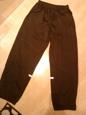Decathlon Trackies black-silver-colored polyester