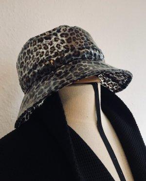 Zara Sombrero de lluvia negro-coñac
