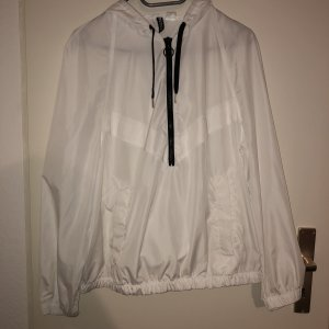 H&M Raincoat white-black
